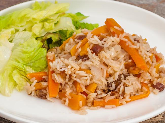 Pilaf aux carottes et fruits secs