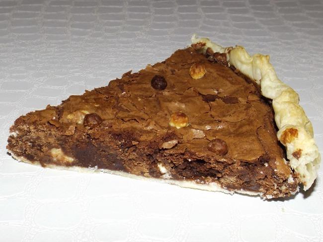 Tarte brownie aux 3 chocolats