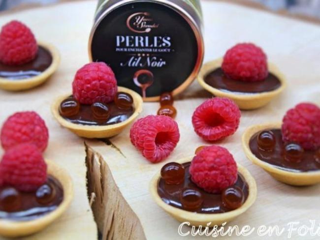 Tartelette chocolat-framboise