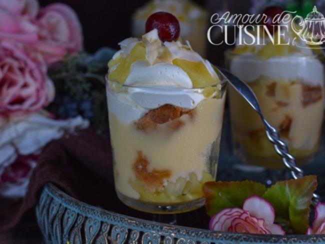trifles à l'ananas et noix de coco