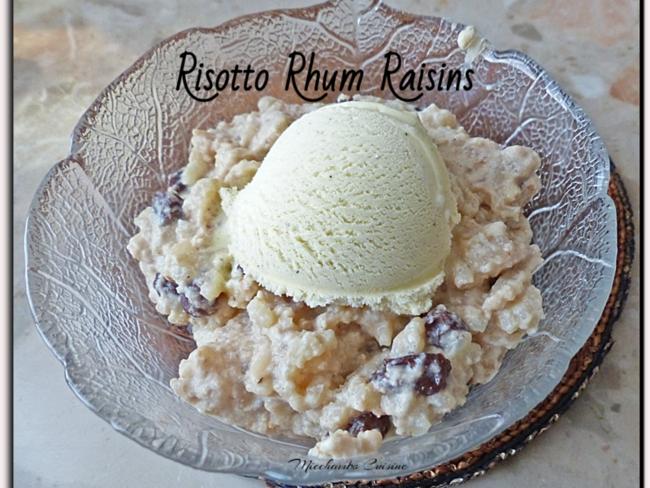 Risotto rhum raisins