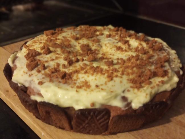 Gâteau aux spéculoos et crème de marrons