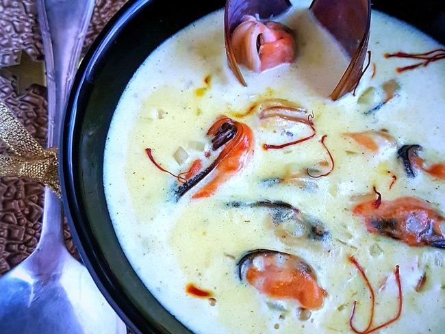 Crème de moules au safran