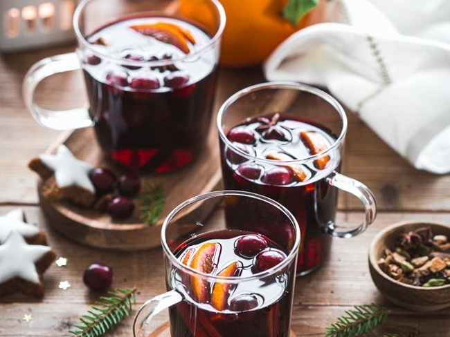 Vin chaud aux cranberries