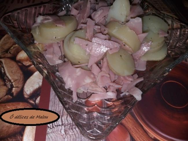 Salade pomme de terre et jambon