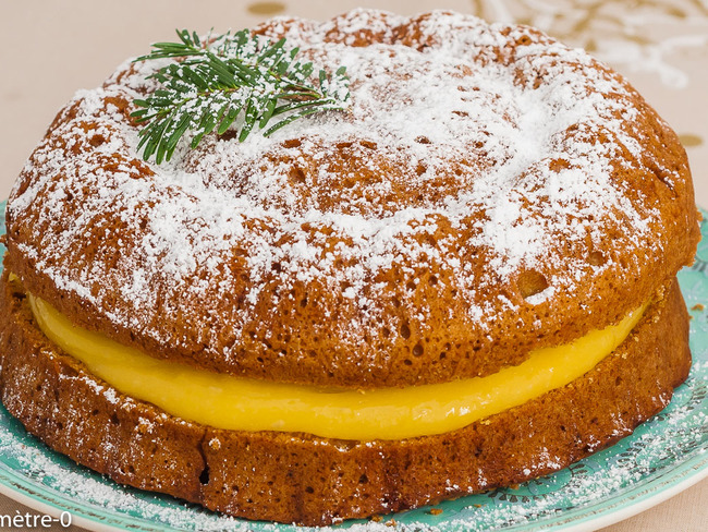 Gâteau Victoria au lemon curd