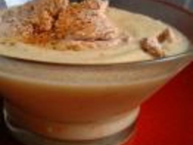 Crème de choux fleur aux copeaux de foie gras