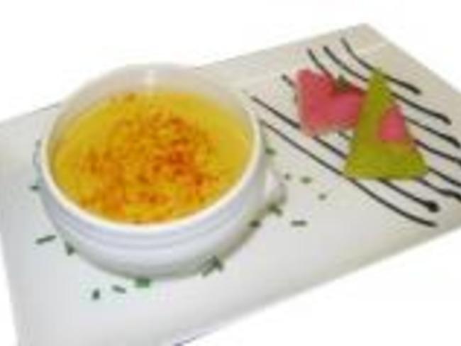 Crème de potiron au caramel balsamique et purée de châtaigne