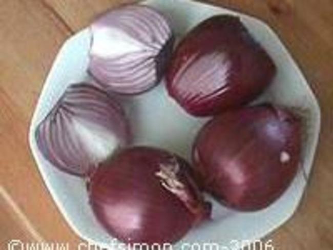 Compote d'oignons rouges