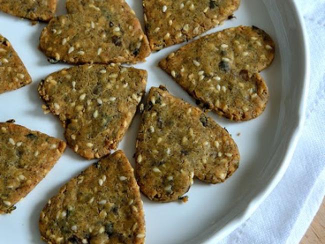 Crackers aux graines et algues