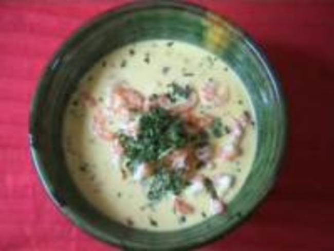 Crevettes au lait de coco et agrumes
