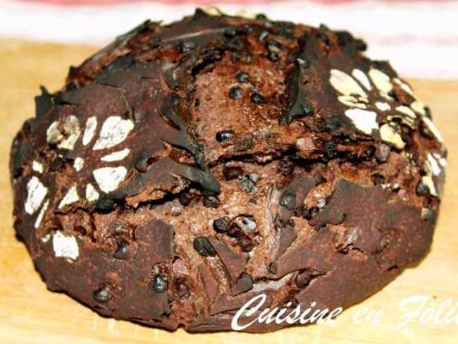 Pain au levain, cacao et au chocolat