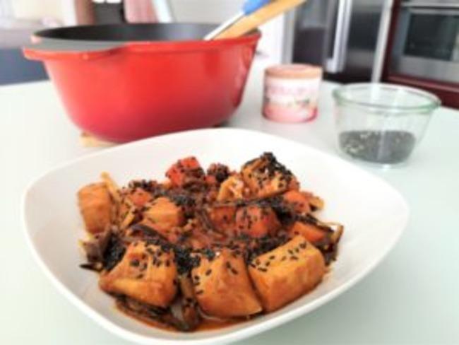 Lamelles d'encornets aux épices indiennes