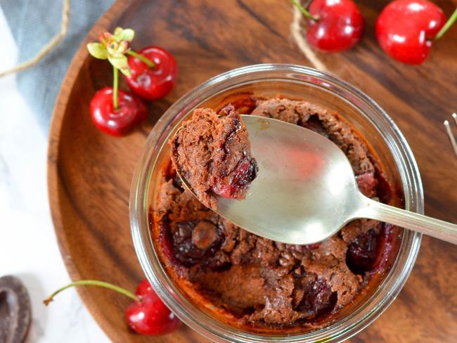 Clafoutis cerises et chocolat