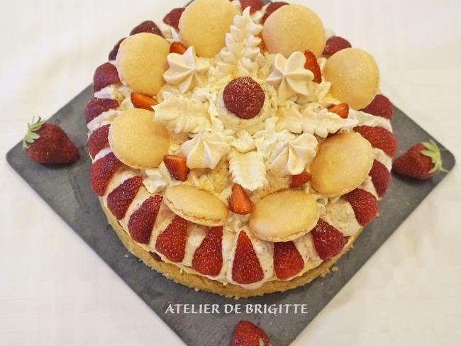 Entremets à la fraise comme un number cake
