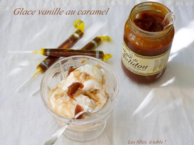 Glace vanille au caramel façon fast-food
