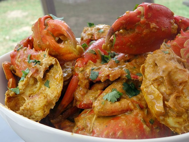 Crabe au curry