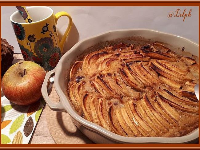 Gratin de pommes et raisins secs