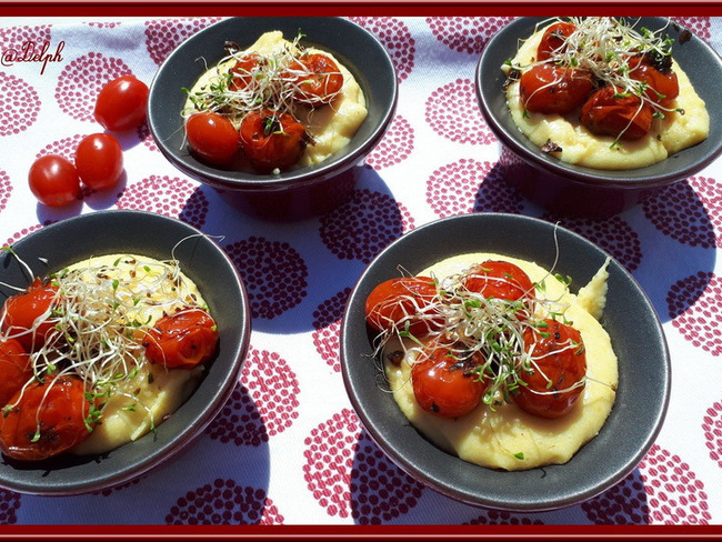 Polenta aux tomates cerises