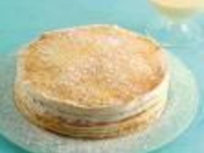 Gâteau de crêpes à la crème