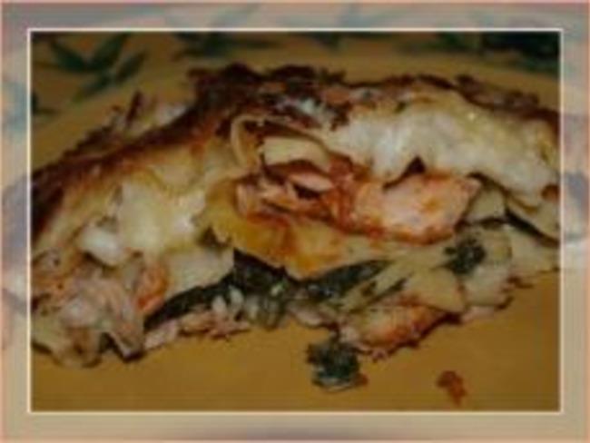 Lasagnes aux Épinards, Fromages et Saumon