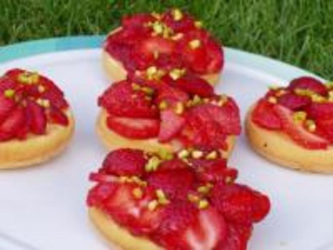 Mini gâteaux aux fraises