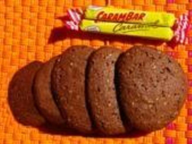 Sablés au chocolat et au carambar
