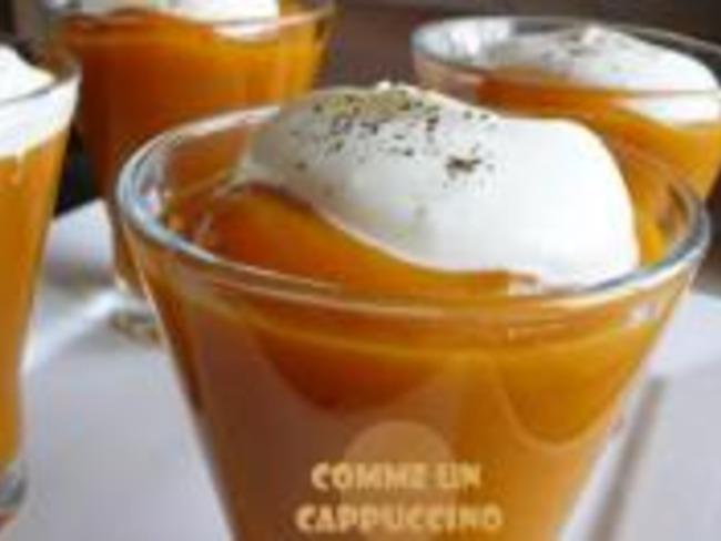Soupe de Carotte Capuccino au Pain d'Épices