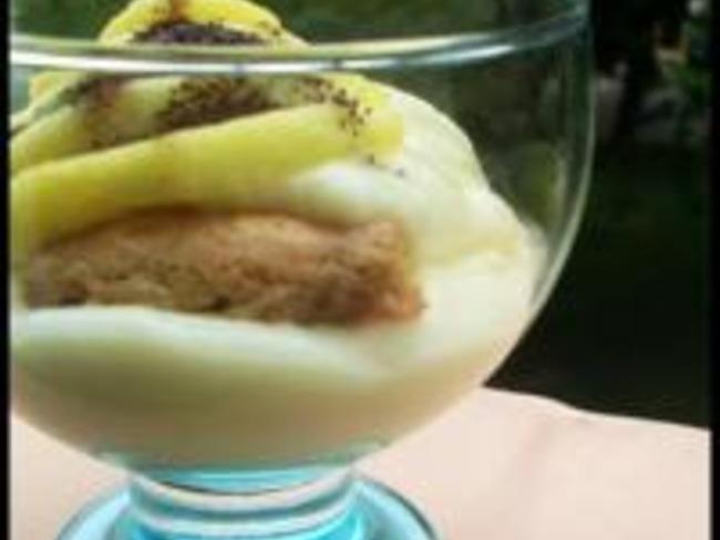 Verrines de Crème Pâtissière façon Tiramisu