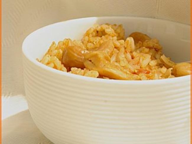 Poêlée de riz épicé aux noix de cajou