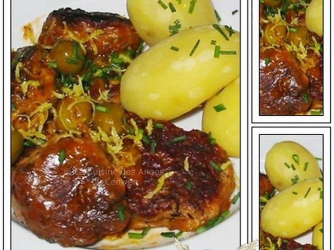 Ragoût de Boulettes de Viande aux Olives