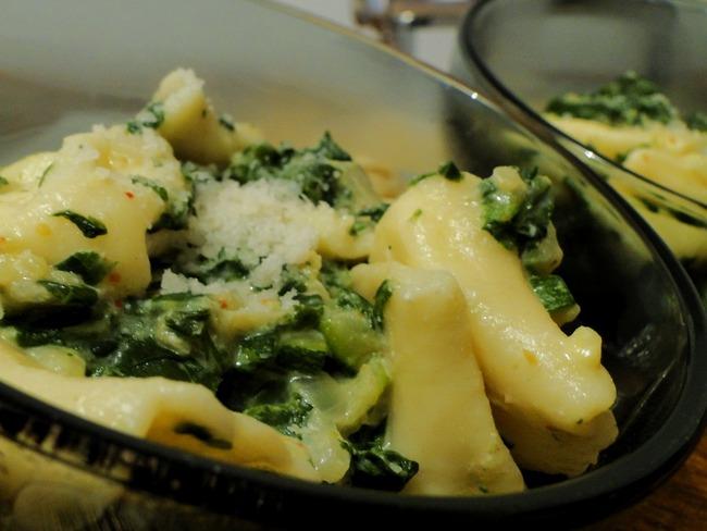 Les tortellinis au fromage et légumes