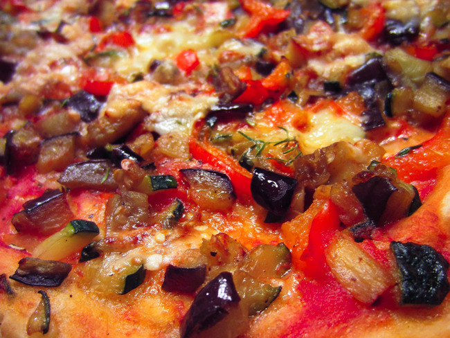 Pizza à la ratatouille
