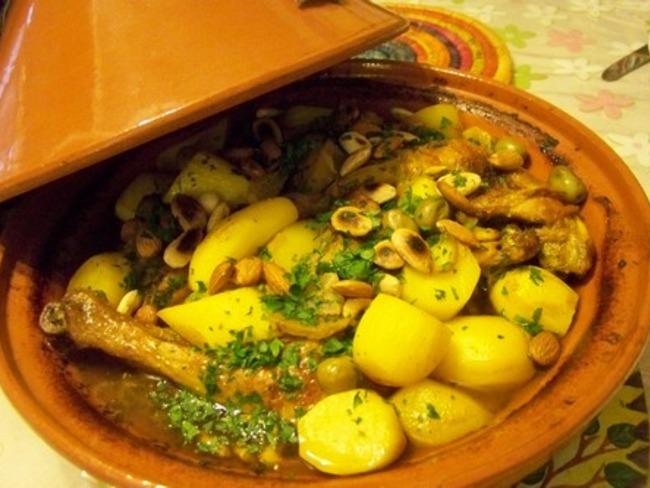 tajine de poulet au safran citrons confits et olives vertes recette par cuisine en folie. Black Bedroom Furniture Sets. Home Design Ideas