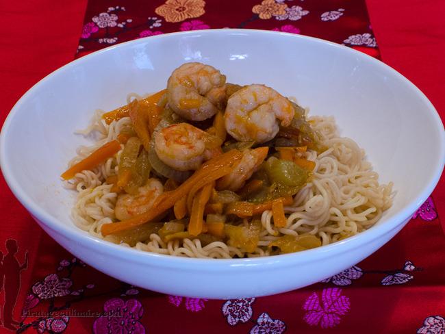 Crevettes à la thaïlandaise