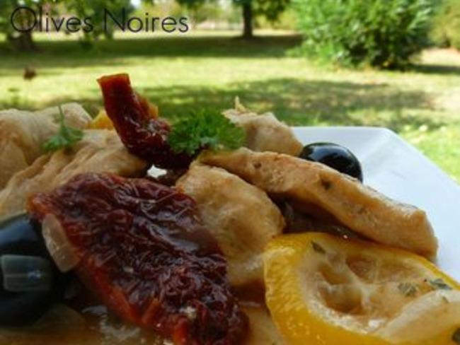 Poulet au Citron et aux Tomates Séchées