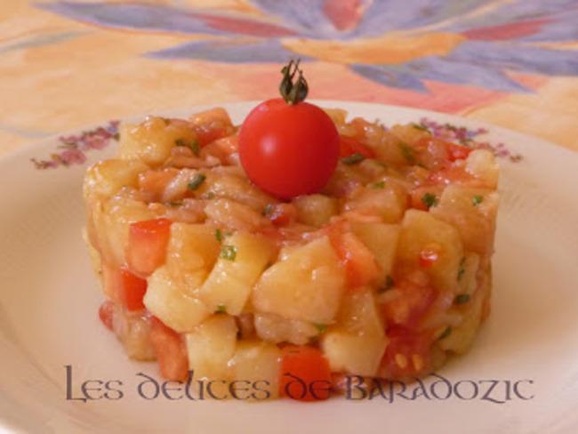 Salade de pommes de terre multicolore