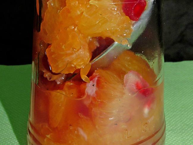 Salade d'oranges sanguines, mandarines et grenade
