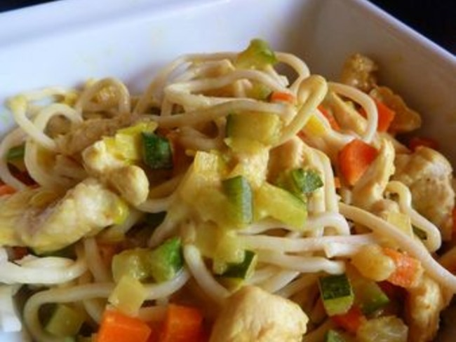 Nouilles Chinoises Poulet Curry