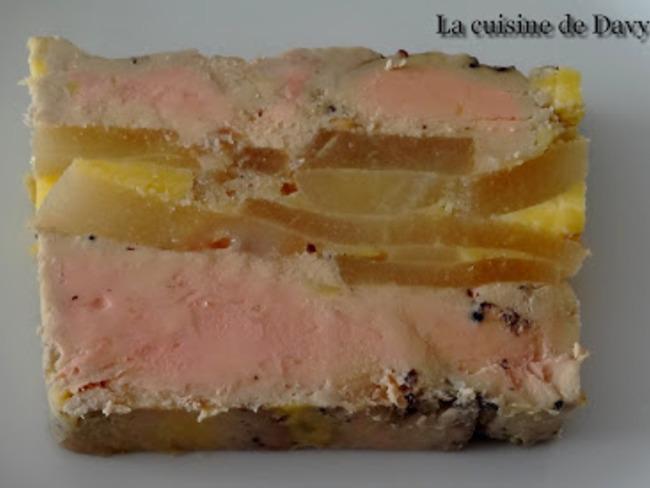Terrine de foie gras aux poires