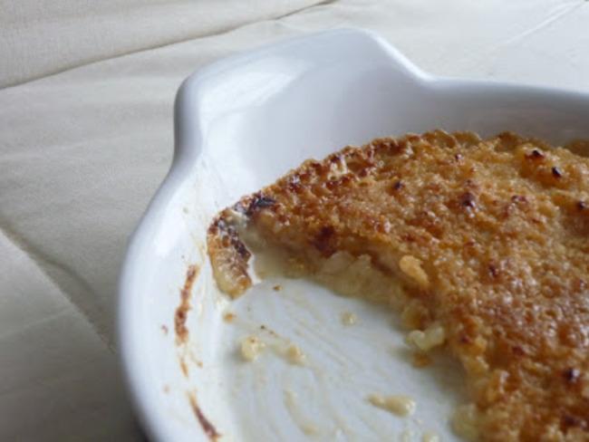 Riz au lait façon Crème brûlée