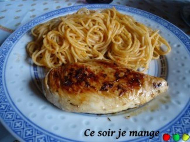 Poulet au citron et herbes de Provence