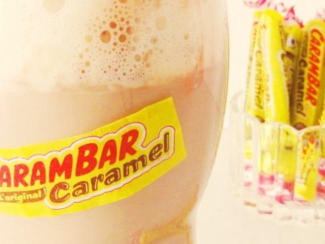Milkshake Carambar façon liègeois