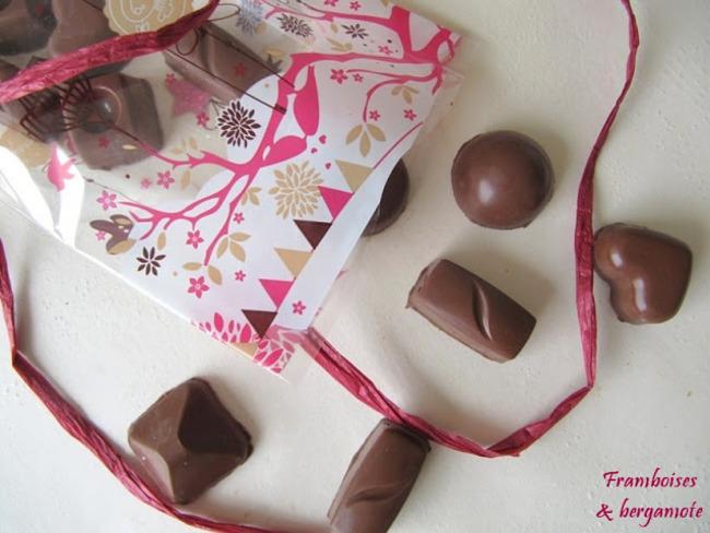 Chocolats maison au praliné