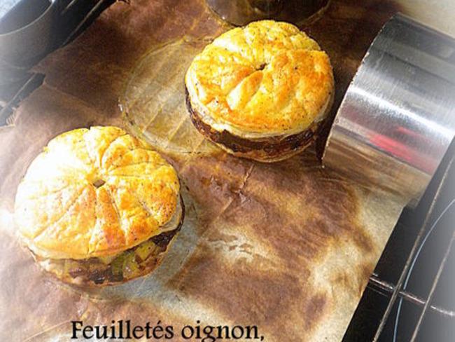 Feuilletés oignon, poireau et pomme de terre