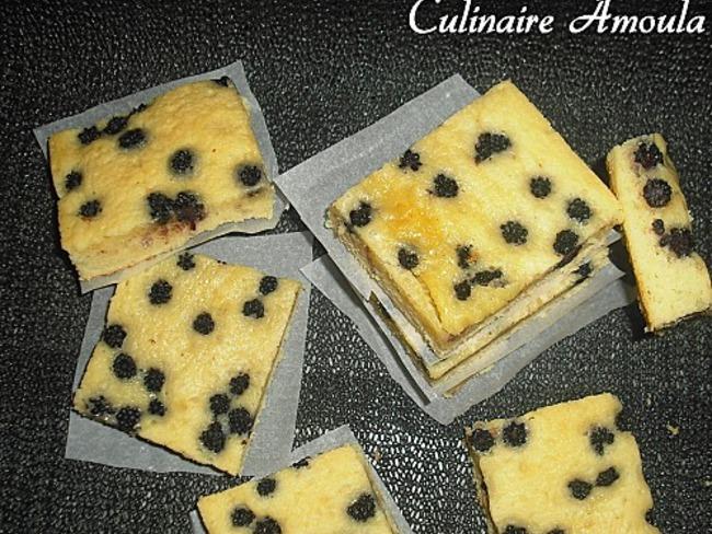 Brownies au chocolat blanc et mûres