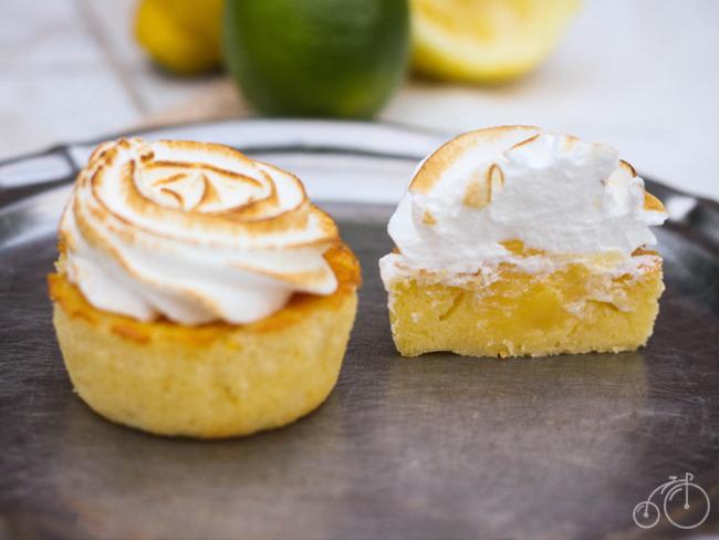 Cupcakes au citron meringués, coeurs coulants au Lemon Curd