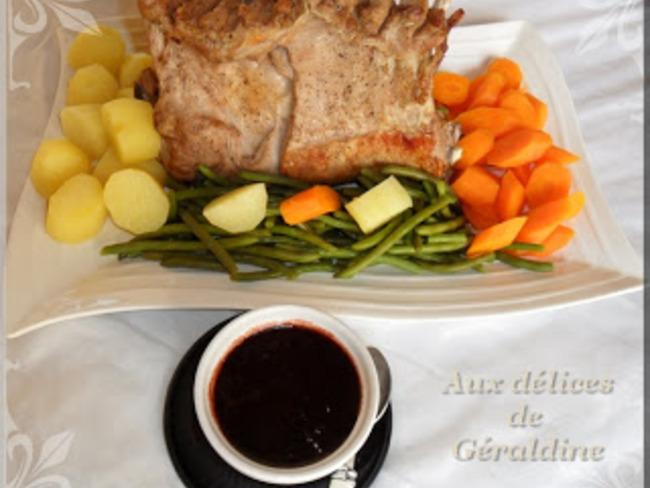 Carré d'agneau et sa sauce acidulée à la confiture de griottes