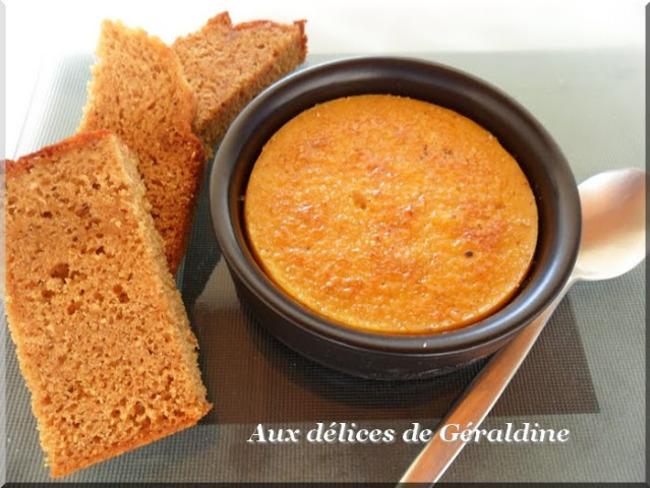 Crème brûlée aux carottes et pain d'épices