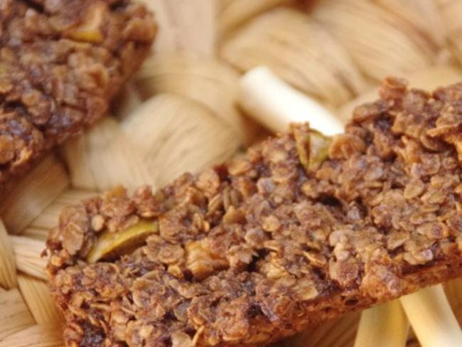 Barres de céréales chocolat et pommes